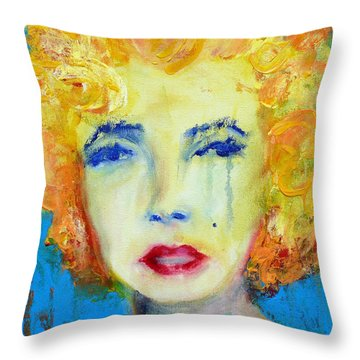 Marilyn Throw Pillow by Jacquie Gouveia