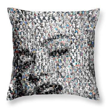 Marilyn Monroe Mosaic Throw Pillow by Paul Van Scott