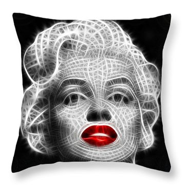 Marilyn Monroe Throw Pillow by Pamela Johnson