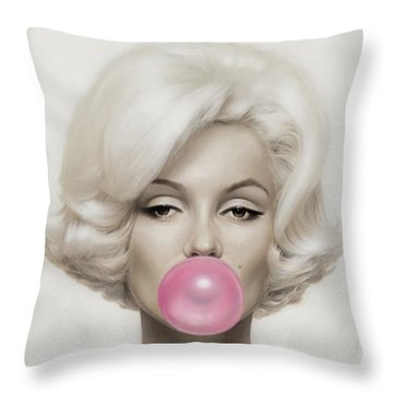 Marilyn Monroe Throw Pillow by Vitor Costa