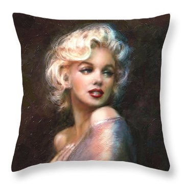Marilyn Romantic Ww 1 Throw Pillow by Theo Danella
