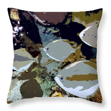 Marine Life Throw Pillow by David Lee Thompson
