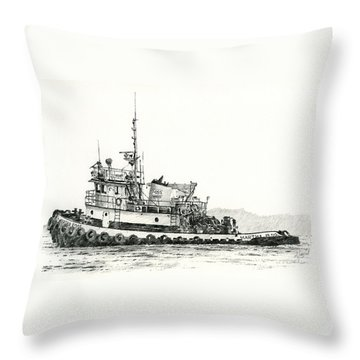 Martha Foss Near Shore Throw Pillow by James Williamson