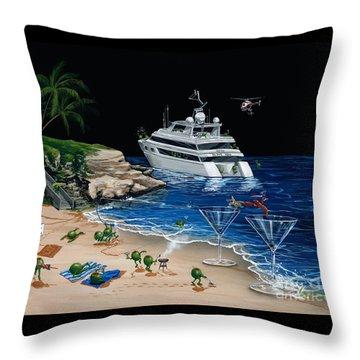 Martini Cove La Jolla Throw Pillow by Michael Godard