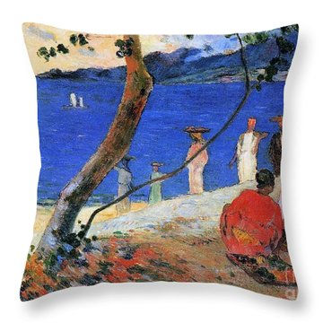 Martinique Island Throw Pillow by Paul Gauguin
