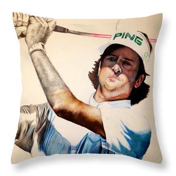 Masters Champ Throw Pillow by Jake Stapleton