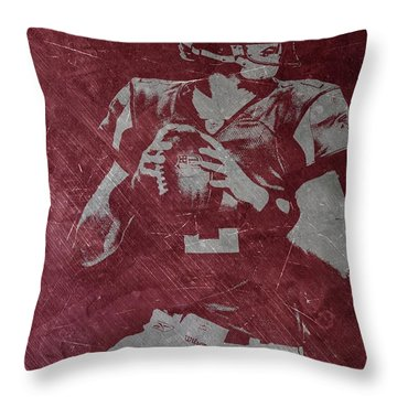 Matt Ryan Atlanta Falcons Throw Pillow by Joe Hamilton