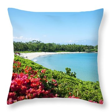 Mauna Kea Beach Throw Pillow by Ron Dahlquist - Printscapes