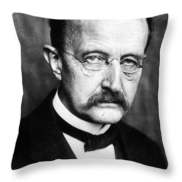 Max Planck  Throw Pillow by Granger