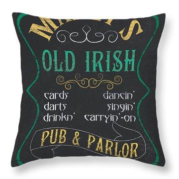 Maxey's Old Irish Pub Throw Pillow by Debbie DeWitt