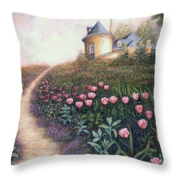 May Flowers Two Throw Pillow by Linda Mears