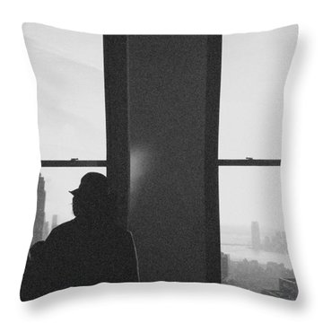 Me And Nyc Throw Pillow by J Montrice