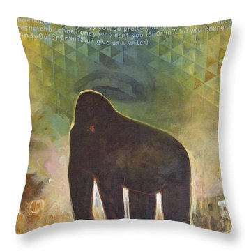 Me Jane Throw Pillow by Sandra Cohen