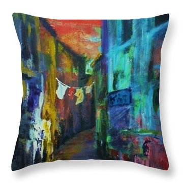 Mediterranean Dusk Throw Pillow by Margaret  Plumb