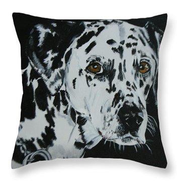 Meet Annie Throw Pillow by Betty-Anne McDonald