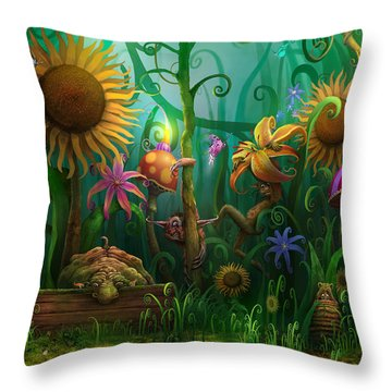 Meet The Imaginaries Throw Pillow by Philip Straub