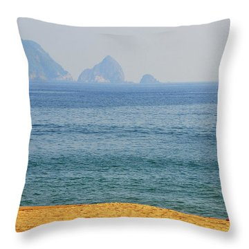 Melaque Surf Throw Pillow by Skip Hunt
