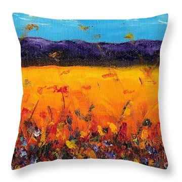 Melissa's Meadow Throw Pillow by Frances Marino