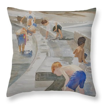 Memorial Day Waterworks Throw Pillow by Jenny Armitage