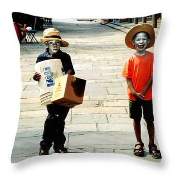 Memories Of A Better Time The Children Of New Orleans Throw Pillow by Christine Till