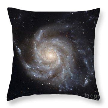 Messier 101, The Pinwheel Galaxy Throw Pillow by Stocktrek Images