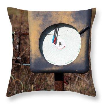 Meter Throw Pillow by Amanda Barcon