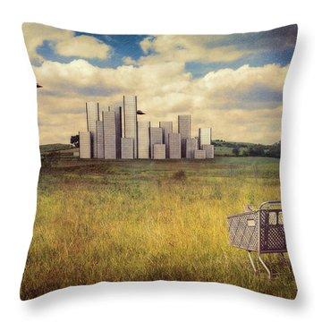 Metropolis Throw Pillow by Tom Mc Nemar