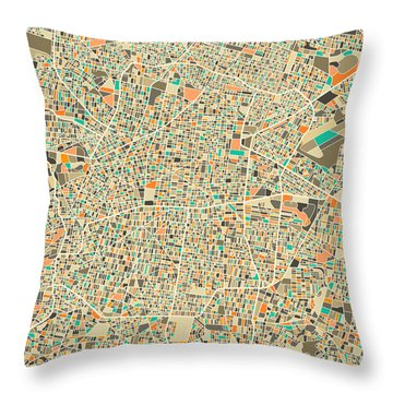 Mexico City Throw Pillow by Jazzberry Blue