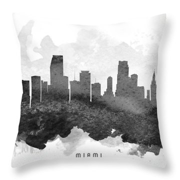 Miami Cityscape 11 Throw Pillow by Aged Pixel