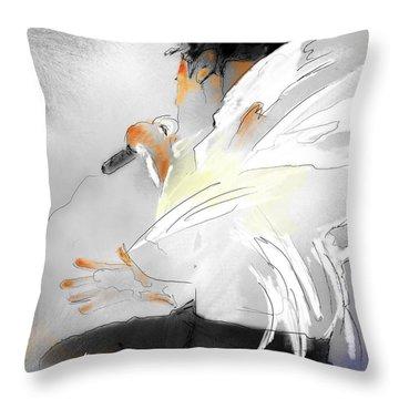 Michael Jackson 08 Throw Pillow by Miki De Goodaboom