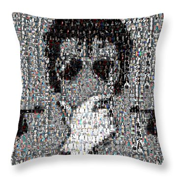 Michael Jackson Glove Montage Throw Pillow by Paul Van Scott