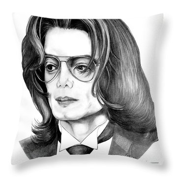 Michael Jackson Throw Pillow by Murphy Elliott