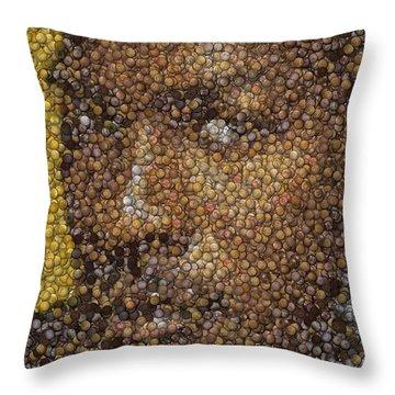 Michael Jordan Money Mosaic Throw Pillow by Paul Van Scott