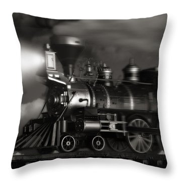 Midnight Flyer Throw Pillow by Tom Mc Nemar