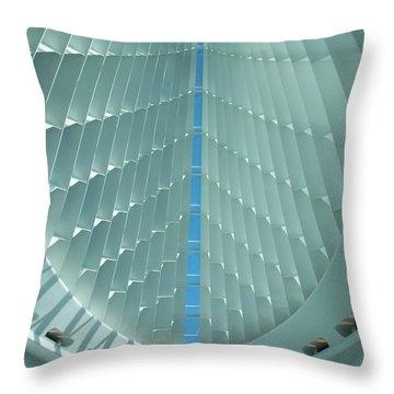 Milwaukee Art Museum Interior Throw Pillow by Anita Burgermeister
