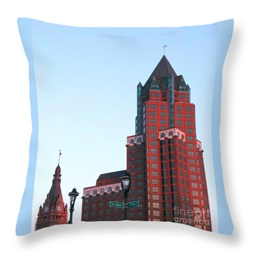 Milwaukee Sundown Throw Pillow by Ann Horn