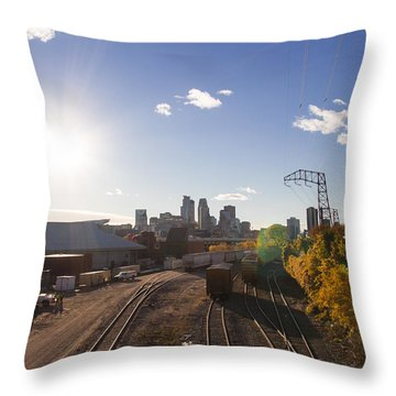Minneapolis In The Fall Throw Pillow by Zach Sumners