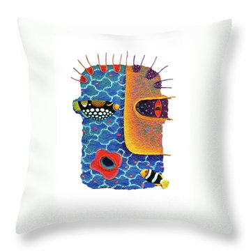 Missing The Sea Throw Pillow by Opas Chotiphantawanon