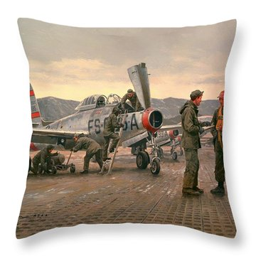Mission From Taegu Throw Pillow by National Guard Bureau