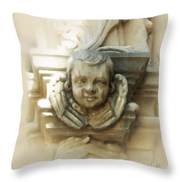 Mission San Jose Angel Throw Pillow by Cliff Hawley