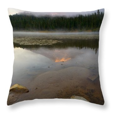 Misty Alpenglow Throw Pillow by Mike  Dawson