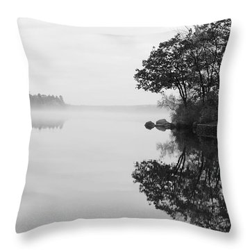 Misty Cove Throw Pillow by Luke Moore