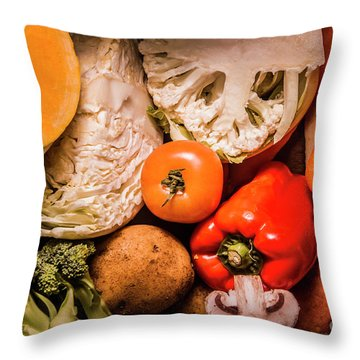 Mixed Vegetable Produce Pack Throw Pillow by Jorgo Photography - Wall Art Gallery
