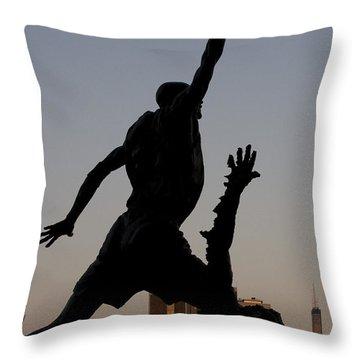 MJ Throw Pillow by Andrei Shliakhau
