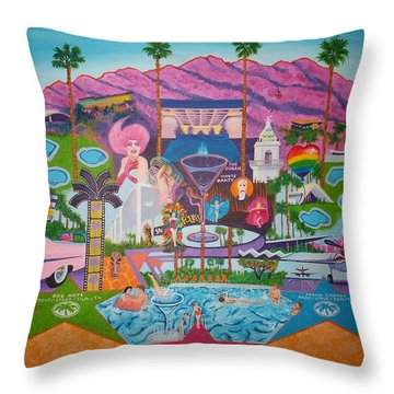 mmmm... Palm Springs Throw Pillow by Randall Weidner