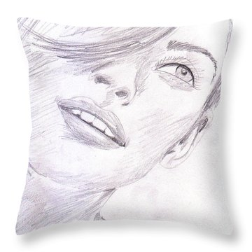 Model Throw Pillow by M Valeriano