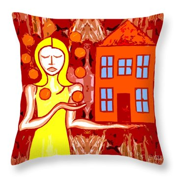 Modern Woman Throw Pillow by Patrick J Murphy