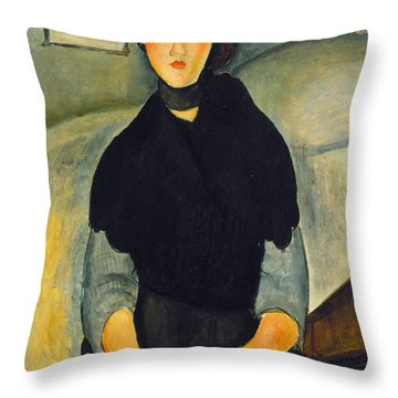 Modigliani: Woman, 1918 Throw Pillow by Granger