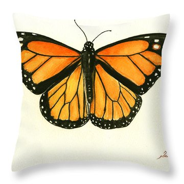 Monarch Butterfly Throw Pillow by Juan Bosco