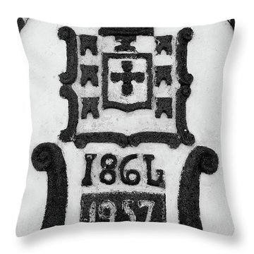 Monarchy Symbols Throw Pillow by Gaspar Avila